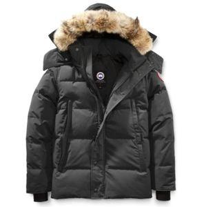 CANADA GOOSE Wyndham Gray Parka Puffer Coat